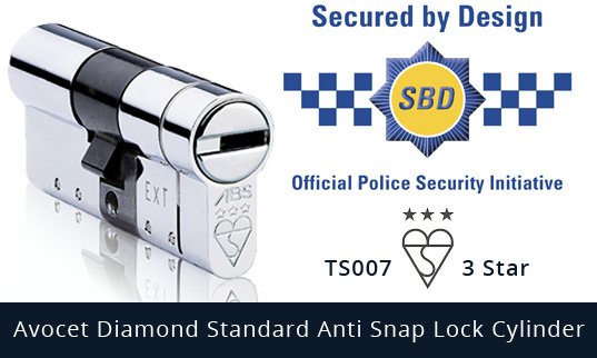 Avocet Diamond Standard Anti-Snap Euro Cylinder